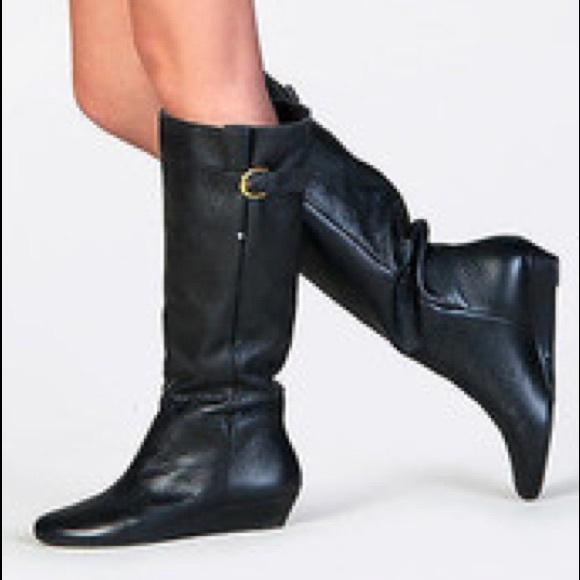afc86315c5f Steve Madden Intyce Black Knee High Wedge Boots. M 5a4e6d612ab8c5b5c0011f92